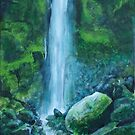 Woodland Waterfall by MARTIN LITHGOW