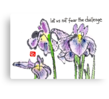 The Japanese Iris Canvas Print