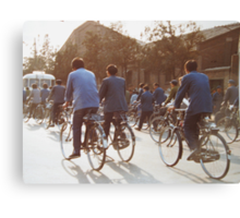 Going to work Beijing May 1981 Canvas Print