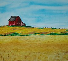 Red Barn, Golden Fields by wwalla