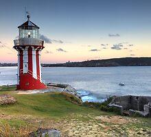 The Hornby Lighthouse, Sydney Australia, sunrise seascape by Leah-Anne Thompson