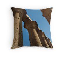 Karnak Temple - Luxor, Egypt (Photo Finish) Throw Pillow