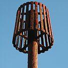 Rusty lamp shade by Tony Hadfield