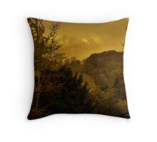 Sunset On Watlington Hill Throw Pillow