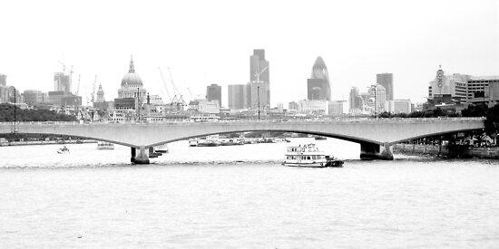 London Skyline over the Thames by karenlynda