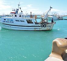 Fishing Boat In Licata by Malcolm Snook