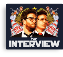The Interview (2014) - james franco , seth rogen Canvas Print