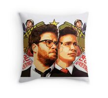 The Interview (2014) - james franco , seth rogen Throw Pillow