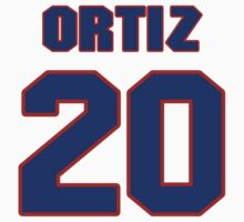 National baseball player Jose Ortiz jersey 20 by imsport