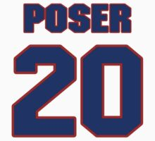 National baseball player Bob Poser jersey 20 by imsport