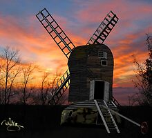 The Postmill (Black Mill) Mousehold Heath, Norfolk 1840 - all products bar duvet by Dennis Melling