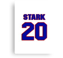 National baseball player Denny Stark jersey 20 Canvas Print