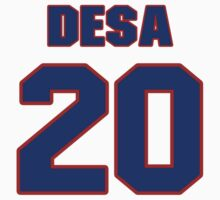 National baseball player Joe DeSa jersey 20 by imsport
