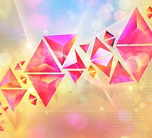 Background of 3d Triangles by AnnArtshock
