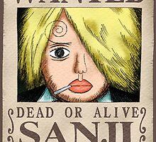 WANTED ! Sanji - One Piece by Laredj