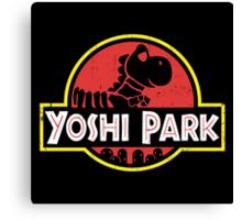 Super Mario World Yoshi Park Jurassic Park Distressed Tee Canvas Print
