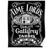 Doctor Who Time Lord's Quality Gallifrey Tardis Distressed Design Poster