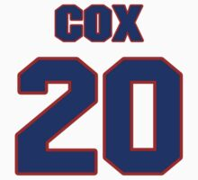 National baseball player Larry Cox jersey 20 by imsport