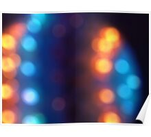 Abstract shiny background with colorful bokeh lights 2 Poster
