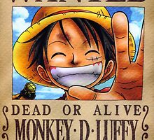 WANTED ! Luffy - One Piece by Laredj