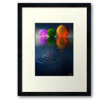 Floating Spheres Framed Print