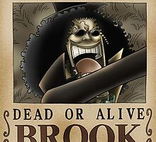 WANTED ! Brook - One Piece by Laredj