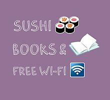 Sushi, books and free wi-fi by Susanna Olmi