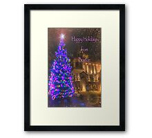 Trinity Tree – Happy Holidays from Boston Framed Print