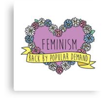 Feminism Flower: Back by Popular Demand Canvas Print