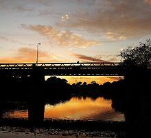 Gasworks Bridge Greets the Rising Sun by Ian Moses