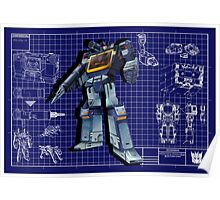 Masterpiece Soundwave Blueprint  Poster