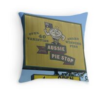 Aussie Pie Stop Throw Pillow