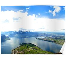 Lake Lucerne from Above Poster