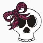 girly skull by Leanne Jones
