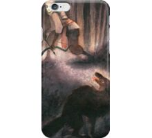 A Peculiar Moment Between Two Hunters iPhone Case/Skin