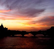 Sunset on the Arno (Number 3) by tomheys