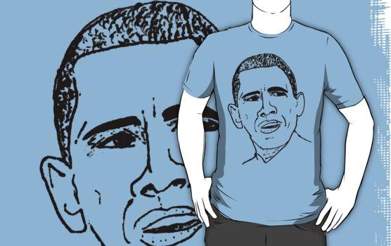 Barack Obama Sketch by irregulargoods