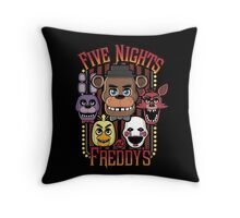Five Nights At Freddy's Pizzeria Multi-Character Throw Pillow