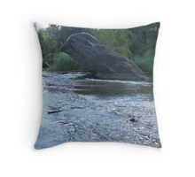 Rock in the stream 2 Throw Pillow