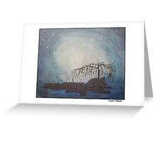 A Night Under the Willow Tree Greeting Card