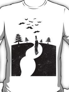Mustache Negative Space T-Shirt