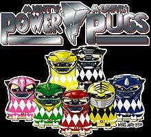 mighty morphin power pugs by darklordpug