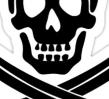 Calico Jack Pirate Flag - Black Sticker