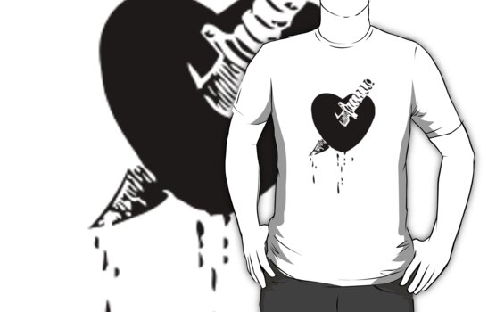 Knife Heart T-Shirt by troyw