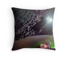 Karimabad Asteriod Colony in the Hunza Starsystem Throw Pillow