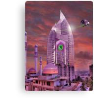 The New Lahore Skycity Pakistani Starfleet Headquarters Canvas Print
