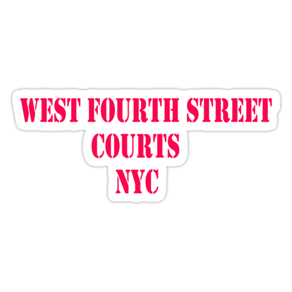 WEST FOURTH STREET COURTS NYC -  Basketball!!! by Barbara Sparhawk