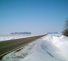County Road in front of the Iowa Farm - Feb. 2008 by Christopher Johnson