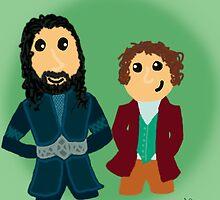 Bilbo & Thorin by shezzaswatson