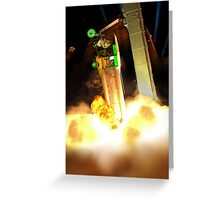 Time for blast off to Pakistan Moonbase Ro-64! Greeting Card